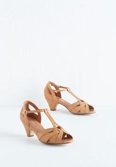 Architectural Tour Heel in Tan, @ModCloth