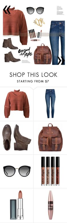 """my ideal style"" by polyvoreuser835 on Polyvore featuring moda, WithChic, H&M, Dolce&Gabbana, NYX, Maybelline y Luv Aj"