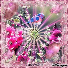 Blingee Flowers and Butterflies GIF - Bing images