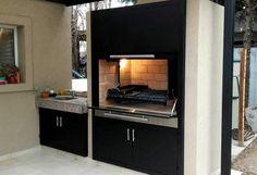 Best Indoor Garden Ideas for 2020 - Modern Design Barbecue, Barbecue Grill, Backyard Kitchen, Outdoor Kitchen Design, Parrilla Interior, Casas Country, Outdoor Barbeque, Garden Swimming Pool, House Yard