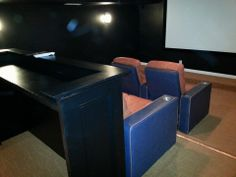 Theater room view from the side
