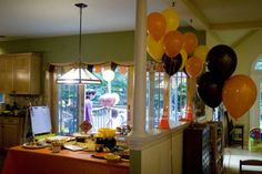 Construction Party--yellow orange brown