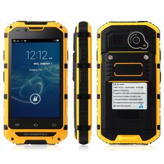 """Discovery V6 Android Phone IP68 Waterproof 4inch MTK6572 Dual core 1.3GHz 512MB RAM 4GB ROM  Outdoor GSM Rugged Cellphone $<span itemprop=""""lowPrice"""">114.99</span> - <span itemprop=""""highPrice"""">126.99</span> Phone Codes, Top Computer, Cell Phones For Sale, Waterproof Phone, Orange, Yellow, Android 4, Cell Phone Accessories, Sims"""