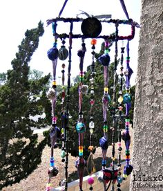 Mobile Suncatcher Chimes Home Garden Decor Beads and by LiLaXO  #LiLaOh