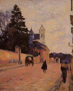Street in Rouen, 1884, Paul Gauguin
