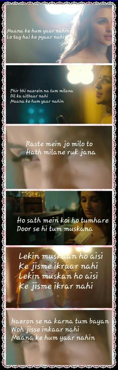 My favourite songs Romantic Song Lyrics, Love Songs Lyrics, Cool Lyrics, Song Lyric Quotes, Me Too Lyrics, Romantic Quotes, Music Lyrics, Music Quotes, Bollywood Quotes