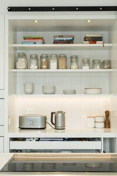 VJ panel behind shelves. Kitchen Design Ideas | Kitchen Renovation | Australian Kitchen | The English Tapware Company
