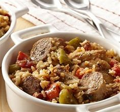 Crockpot Chicken-Sausage and Rice-This is a healthy, low calorie, low sodium, Weight Watchers 6 PointsPlus recipe. Makes 12 servings.