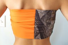 Real+Tree+Camo+and+Hunter+Orange+Bandeau+Top+by+Sidewalk616,+$25.00 I NEED IT
