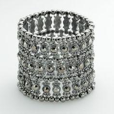 Dana Buchman Jet Simulated Crystal Stretch Bracelet