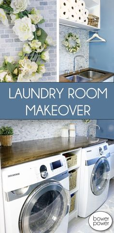 Give your Laundry Room a makeover, and make doing the laundry a little more enjoyable.