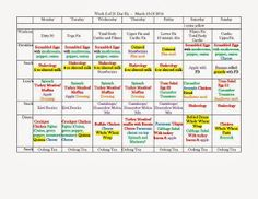21 day fix meal plan, portion sizes, 21 day fix tracking sheet, 21 day fix workouts---good meal/workout ideas--and omg color coded heaven! :)