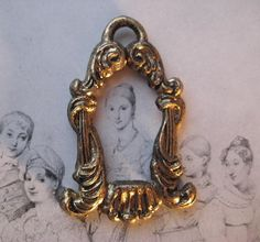 1 Vintage Ornate Brass Drop Finding  Double Sided by StarPower99, $2.90