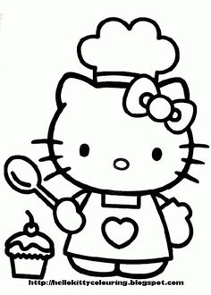 Free Hello Kitty printable coloring pages Embroidery Pinterest