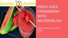 #JuiceWorld offers #tasty, #refreshing and #fresh squeezed #STRAWBERRY WITH #WATERMELON #Juices with great #taste! : http://juiceworld.com.sa/
