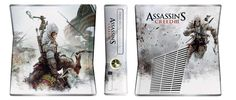 Will you use a tomahawk or bow & arrow in Assassin's Creed 3 (M)? Either way, you'll look good doing it with this AC3 custom Xbox console.