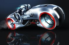 Jason Hazelroth - Designs of the car and bike for the RoboCop universe. The bike is obviously inspired by the Tron bike and Batpod.