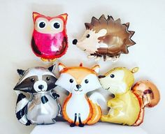 WOODLAND Animal Balloons, Woodland Animal Party, Woodland Animal Theme, Woodland Animal Decorations, Woodland Animals, Woodland Baby Shower by girlygifts07 on Etsy https://www.etsy.com/listing/467626674/woodland-animal-balloons-woodland-animal