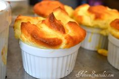 Cheddar Chive Souffles