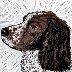 'Maddie' by Printmaker Mary Collett. Blank Art Cards By Green Pebble. www.greenpebble.co.uk