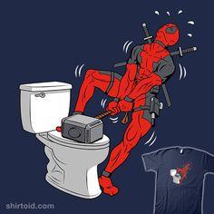 Really got to go #coinboxtees #comic #comics #deadpool #marvelcomics #metrokard #thorhammer #toilet
