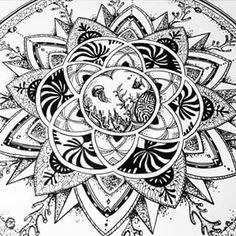 Close up on the Ocean Mandala :) #mandala
