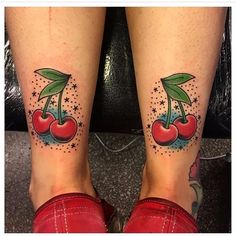 Home - tattoo spirit - Rene Almiron 001 # Body art - Girly Tattoos, Trendy Tattoos, Leg Tattoos, Black Tattoos, Sleeve Tattoos, Tattoos For Guys, Tatoos, Tattoo Cherry, Fruit Tattoo