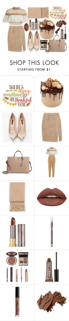 """Thanksgiving"" by milanaxx ❤ liked on Polyvore featuring Cricut, Louis Vuitton, Lodis, self-portrait, rag & bone, Huda Beauty, Urban Decay, MAKE UP FOR EVER, Charlotte Tilbury and Charlotte Russe"