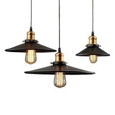 Vintage Edison Industrial Ceiling Black Pendant Lamp