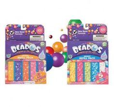 Çocuklar Beados yedek boncuklarla kalemlerini yeniden dolduruyor.  Kristal ve parlak renklerde 2 asortisi mevcut.  Her asorti ayrı olarak satılmaktadır.  Yaş Grubu: 4 yaş ve üzeri