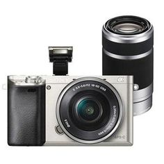 Buy the Sony A6000 Compact System Camera in Silver + 16-50mm PZ Lens + Sony 55-210mm Lens from Jessops