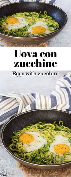 EGGS WITH COURGETTES quick and easy recipe second course with .- Egg recipes, courgette recipes, egg quick recipes, egg pan recipes, light egg recipes of the day Yummy Recipes, Egg Recipes, Light Recipes, Brunch Recipes, Healthy Recipes, Quick Recipes, Confort Food, Quick Easy Meals, Italian Recipes
