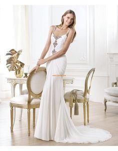 Meerjungfrau-Linie/Mermaid-Stil 3/4 Arm Reißverschluss Brautkleider 2014