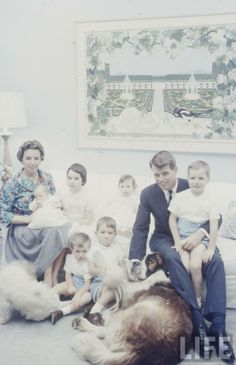 The Robert Kennedy family when he was Attorney General for brother, JFK.