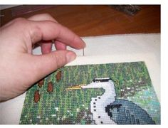 How to frame cross stitch pieces
