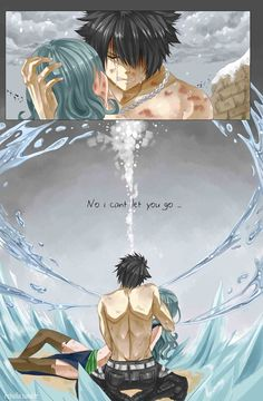 Image discovered by Menma. Find images and videos about anime, fairy tail and gruvia on We Heart It - the app to get lost in what you love. Fairy Tail Sad, Image Fairy Tail, Arte Fairy Tail, Fairy Tail Photos, Fairy Tail Gruvia, Fairy Tale Anime, Fairy Tail Family, Fairy Tail Guild, Fairy Tail Couples
