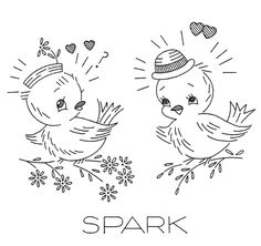 Folk Embroidery Patterns Hand Embroidery Transfer repo 718 Love Birds for Kitchen Dish Towels - French Knot Embroidery, Iron On Embroidery, Bird Embroidery, Vintage Embroidery, Embroidery Stitches, Embroidery Sampler, Modern Embroidery, Embroidery Designs, Embroidery Transfers