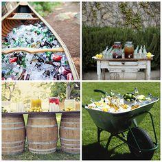 Backyard Entertaining Tips for the Summer. Creative drink displays. Nantucket Home Blog (Curatorsoflifestyle.com)