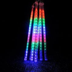 LED Meteor Shower Lights,Haimi Tree 8 Tube 144 LEDs,Falling Rain Drop Icicle Snow Fall String LED Waterproof Christmas Lights for Holiday Xmas Tree Valentine Wedding Party Decoration(Colorful)