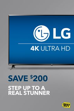 """Save $200 on the LG 60"""" Class LED 4K Ultra HD Smart TV. Put up your feet and enjoy the incredible clarity and rich colors of LG 4K technology. Whether it's the fall TV lineup or fall football, there's no shortage of oohs, ahhs and ohhs with this living room must-have. Plus, with built-in Wi-Fi, this Smart TV brings over 50 streaming sites and endless entertainment straight to your home. Better get started, you've got a lot to see. Savings good through 10/14/17."""
