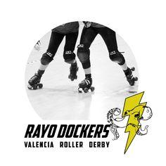 publicación corporativa: Rayo Dockers  Travel Team de la liga Valencia Roller Derby