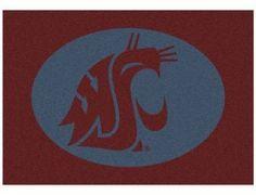 NCAA Washington State University 7-Foot 8-Inch x 10-Foot 9-Inch Large Spirit Rug