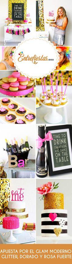 ¿Estás buscando una decoración chic para realizar una celebración especial? Entonces pon a volar tu imaginación organizando una íntima fiesta de cumpleaños que combine a la perfección la diversión y el buen gusto que te caracteriza, con un imponente diseño inspirado en los tonos rosa, negro y dorado.