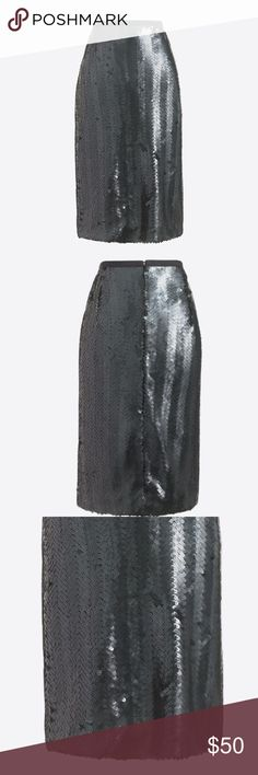 """NWT J. Crew Sequin Herringbone Pencil Skirt SZ 8 Poly/sequins. Pencil silhouette. Sits at waist. 21 1/2"""" long. Falls below knee. Back zip. Back vent. Lined. Dry clean. Select stores. Import. Item F7475. J. Crew Skirts"""