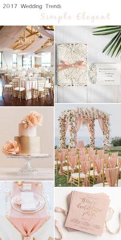 blush and gold elegant wedding ideas with wedding invitations