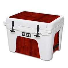 MightySkins Protective Vinyl Skin Decal for YETI Tundra 35 qt Cooler wrap cover sticker skins Cherry Wood *** Check out the image by visiting the link.(This is an Amazon affiliate link and I receive a commission for the sales)
