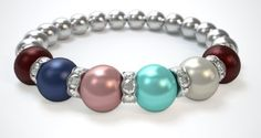 Love, love, love this....Pearls by Laurel...make a mothers' bracelet with Swarovsky pearls and crystals....I anchored my kids, Stephen and Laura (January) on the ends with, my husband (Sept), and then my stepkids, James (Oct), Haley (March) and Emma (April).  Only $29.95 for up to 6 pearls...So want this!!!