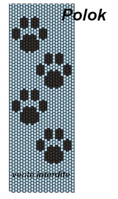 Pattes de chat Plus Loom Bracelet Patterns, Seed Bead Patterns, Peyote Patterns, Beading Patterns, Cross Stitch Patterns, Knitting Patterns, Cross Stitches, Loom Bands, Motifs Perler