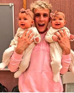 (Jake Paul) Heyy im Jake! Im 19 and single. I have 2 baby girls Kendall and Brynn. They are my world.. there mother left when they write born..