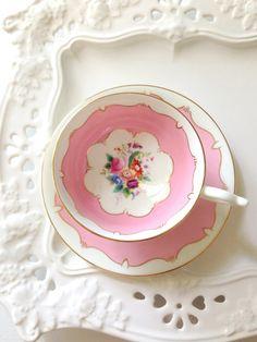 English Bone China Coalport Teacup and Saucer by MariasFarmhouse, $75.00